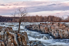 Great Falls Washington at dusk Royalty Free Stock Photos