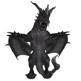 Great Fantasy Dragon. 3D Rendering of a huge Fantasy Dragon with Clipping Path Royalty Free Stock Photo