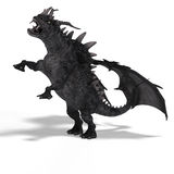 Great Fantasy Dragon. 3D Rendering of a huge Fantasy Dragon with Clipping Path Royalty Free Stock Photography