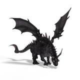 Great Fantasy Dragon stock illustration