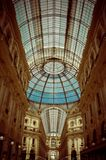 Great fashion architecture in Milan, Italy stock image