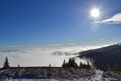 Great Fatra mountains - sunny day in early winter Stock Photos