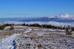 Great Fatra mountains - sunny day in early winter Royalty Free Stock Photography