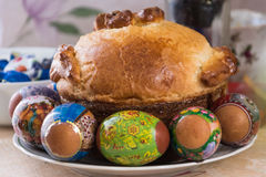 The great feast of Passover. Easter cake on great holiday Easter Royalty Free Stock Images