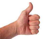 Great finger Royalty Free Stock Photography