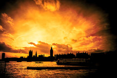 Great fire of london Royalty Free Stock Image