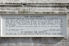 Great Fire of London Monument Royalty Free Stock Photos