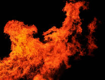 Great fire in the night Royalty Free Stock Images