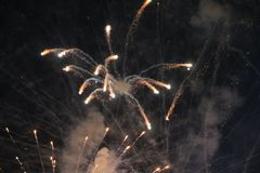 Great fireworks Serbia. Great fireworks. With an interesting night in Belgrade. Serbia , 2017 Stock Photos
