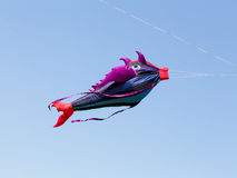 Great fish-like kite in the blue sky Royalty Free Stock Images