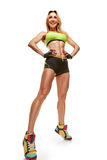 Great fitness woman Stock Images
