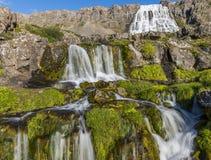Great Fjallfoss Waterfalls on Iceland Stock Photos