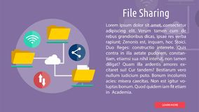 File Sharing Conceptual Design. Great flat design illustration concepts for business, finance, marketing and much more Royalty Free Stock Images