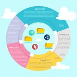 File Sharing Infographic. Great of flat design illustration concepts for business, finance, marketing and much more Royalty Free Stock Photography