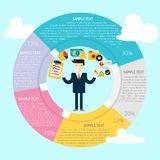 Planning Infographic. Great of flat design illustration concepts for business, finance, marketing and much more Stock Image