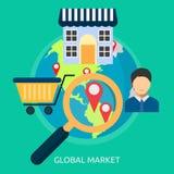 Global Market Conceptual Design Stock Image