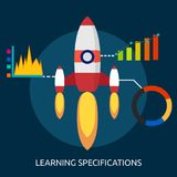 Learning Specifications Conceptual Design. Great flat icons with style long shadow icon and use for agriculture, education, science, analysis, knowledge Stock Images