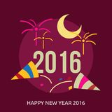 Happy new year 2016 conceptual design royalty free illustration