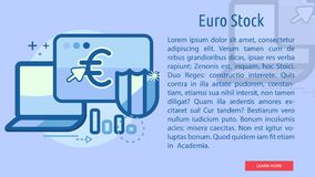 Euro Stock Conceptual Banner. Great flat illustration concept icon and use for currencies, payment, business and much more Stock Photography