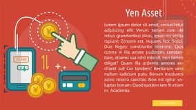 Yen Asset Conceptual Banner. Great flat illustration concept icon and use for currencies, payment, business and much more Royalty Free Stock Photography