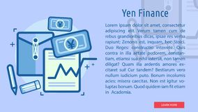 Yen Finance Conceptual Banner. Great flat illustration concept icon and use for currencies, payment, business and much more Stock Photo