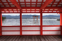 Great floating gate of Itsukushima Shrine Royalty Free Stock Images