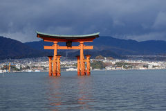 Great floating gate on Miyajima island Stock Image