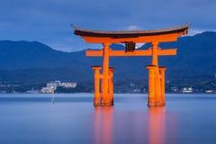 Great floating gate (O-Torii) on Miyajima island. Japan stock image