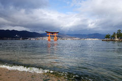 Great floating gate (O-Torii) on Miyajima island Stock Image