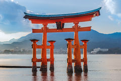 Great floating gate (O-Torii) on Miyajima island Royalty Free Stock Photography