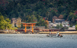 Great floating gate (O-Torii) on Miyajima island Royalty Free Stock Photos