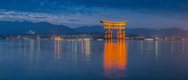 Great floating gate (O-Torii) on Miyajima island Stock Photography