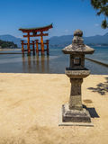 Great floating torii of Itsukushima Shinto Shrine Royalty Free Stock Image