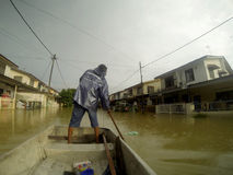 Great Floods Strike City Stock Photos