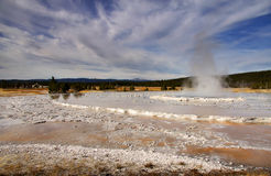 Great fountain geyser Stock Photography