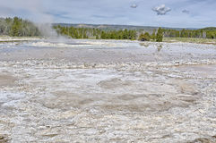 Great Fountain Geyser, Low Geyser Basin, Yellowstone National Pa Stock Photography