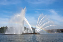 Great fountain in Minsk Royalty Free Stock Image