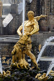 Great fountain Samson in Peterhof. Stock Images