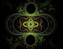 Great fractal pattern. Very detailed fractal pattern on black background Royalty Free Stock Photos