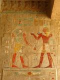 Great Fresco at Temple of Queen Hatshepsut, Luxor Royalty Free Stock Photo