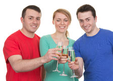 Great friends celebrating royalty free stock images