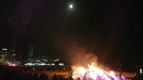 The Great Full Moon House at Haeundae Beach, Busan.  stock video footage