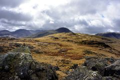Great Gable from Grey Knotts Royalty Free Stock Photos