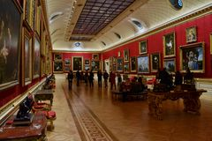The Great Gallery Wallace Collection. The Great Gallery in Wallace Collection museum in London Stock Images