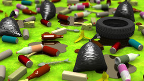 The Great Garbage Dump, 3d illustration Royalty Free Stock Photos