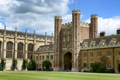 The Great gate and chapel at Trinity College Royalty Free Stock Photo