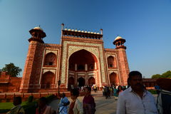 The great gate (Darwaza-i rauza). Taj Mahal. Agra, Uttar Pradesh. India Stock Photo