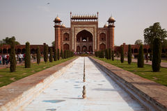 The Great Gate entrance to the Taj Mahal Stock Photography
