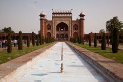Great Gate entrance to the Taj Mahal Stock Photo