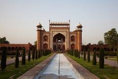 Great Gate entrance to the Taj Mahal Stock Photography